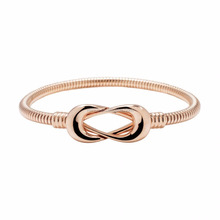 2017 new fashion jewelry design 18ct Rose Gold plated Infinity Bracelet for ladies bangle