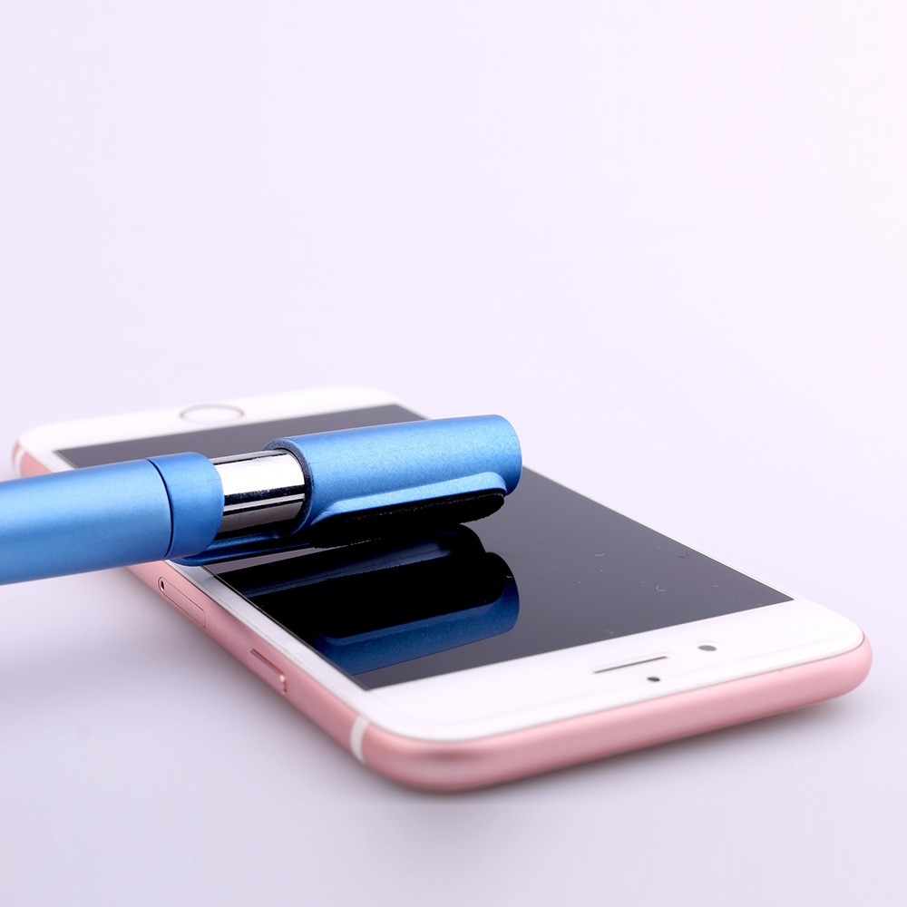 5 in 1 raw material stylus highlighter ball pen with touch screen phone holder for children