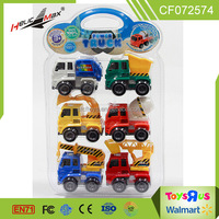 6pcs intelligence plastic friction mini truck toys for kids shantou