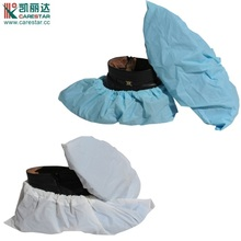 CPE disposable antiskid plastic shoe covers white