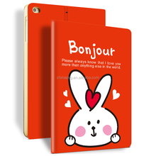 Newest Color Printing Pu Leather Smart Case for Ipad Mini, Folio Stand Cover Case for Ipad Mini123 (New Year Rabbit)