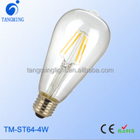 New best efficiency led decor lighting lamp ST64 lamp led filament bulb for hotel, home, cafe shop