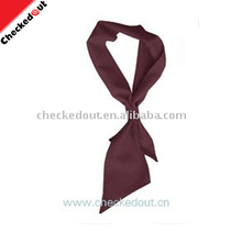 Promotional wholesale neckerchief coffee color chef cooking cotton scarfs