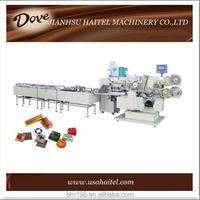 HTL-Z360 square automatic feeding chocolate candy fold wrapping sealing machine