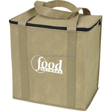 Promotion Insulated Non-woven Grocery Tote Bag non-woven cooler tote bag shopping bag BSCI, SEDEX, WCA audited factory