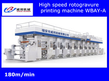 printing Plastic Film High Speed seven motor control Rotogravure printing machine