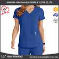 criss cross V neck function women nurse medical uniform