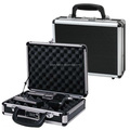 Black aluminum Single Pistol Gun Case w/combination lock Foam inside