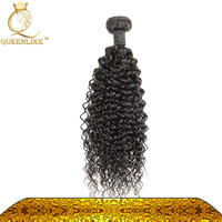 Raw Unprocessed Natural Virgin Hair Kinky Curly Remy Hair Weave Brazilian Hair