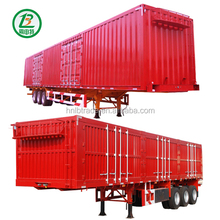 Large Capacity 40 Feet Container Flatbed Box Semi Trailer Truck 2 Or 3 Axles 30-60 Tons 13M Van Semitrailer