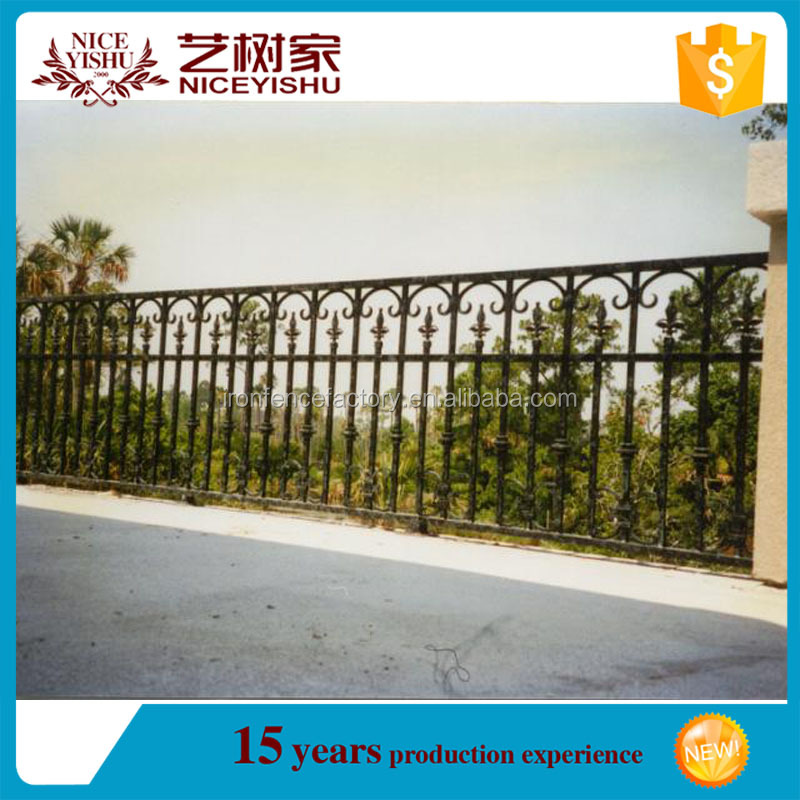 alibaba sales beautiful modern decorative wrought iron fence designs /Hot selling new design cheap wrought iron fence, metal fen
