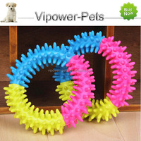 Wholesale Rubber Dog Toy Color Thorn Ring Toy Cheap Pet Chew Toys For Dog Free Shipping