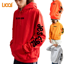 Wholesale Custom High Quality Letter Printed Pullover Oversized Unisex Hoodie