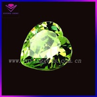 Costume jewelry gems wholesale heart shape cz stone