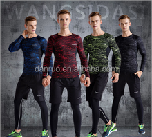 Workout clothes in the fall and winter of three suits men long sleeve quick-drying tight sports training room running clothes me