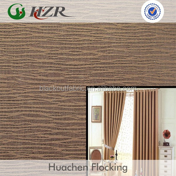modern design 3 pass blackout curtain fabric in China