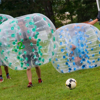 2018 hot quality waterproof 1.0mm PVC inflatable human body bumper ball soccer bubble for football game