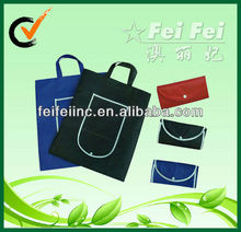 Cheap Promotional Print your own Logo PP Nonwoven Folding Shopping bag