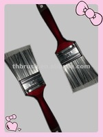 Paint Brush With Wooden Handle Varnished Painting Brush Flat Brush Bristle