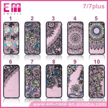 China Fashion TPU Material Anaglyph Lace buckle Smart Phone Case for iphone 7