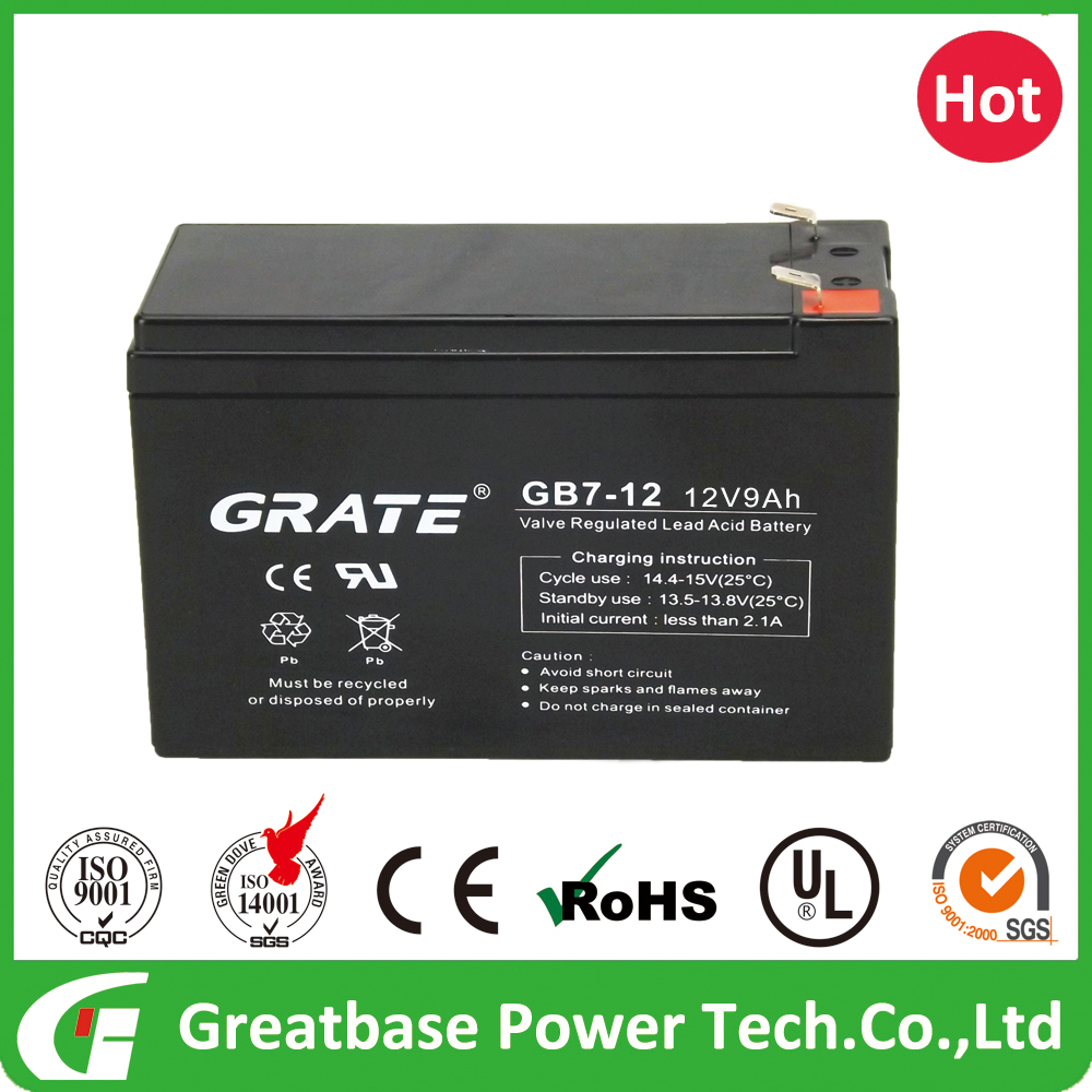 new energy battery 12V 9Ah Agm industrial Emergency Power System UPS L151 W65 H95 Battery with UL Approve