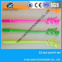 hot sales fashion Flower shape design novelty plastic ball pen