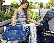 Mummy Baby Diaper Bags/Tote and Shoulder Bag/Fashionable Blue Diaper Bag