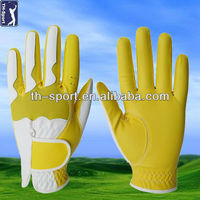 Yellow Cabretta Leather Golf Glove