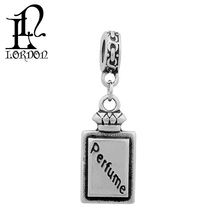 Fashion cheap stainless steel perfume bottle shape necklace pendants
