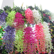 Artificial wisteria flower for wall wedding decoration