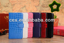 New Arrival Wallet Crocodile Pattern Magnetic PU Leather Stand Case for Samsung Galaxy Note 3 N9000 N9006