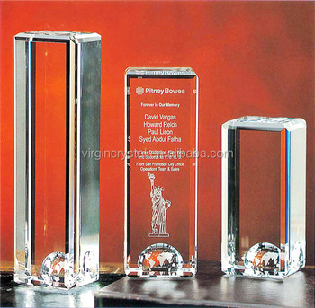 Personalized crystal globe trophy for novelty corporate gifts