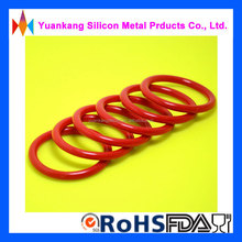 Red FDA certification food grade silicone rubber o ring