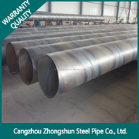 SSAW spiral welded pipe/Large Diameter Spiral Steel Pipe API 5L on Sale for Water Project