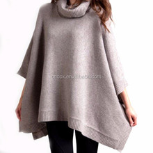15PKCSP06 Lady pure 100% cashmere wool fashionable winter thick poncho sweater