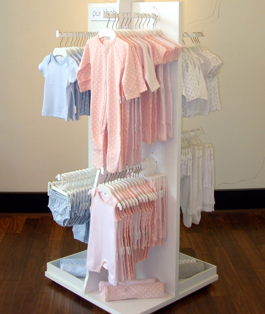 metal hanging baby clothes display racks stand for kids garment store