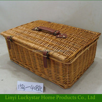 Natural Cheap Empty Wicker Picnic Baskets Cooler for Sale