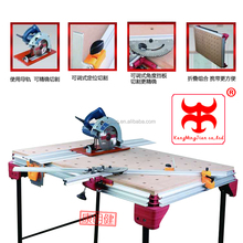 Portable Multifunction Working Table Woodworking Bench With Aluminum Stand And Wood Platform