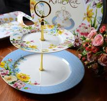 Certificate european Style Antique Porcelain dining plate set,Decorating bone china dishes plate,cake plate set for Wedding