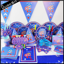 hot selling paper kids birthday party supplies set in china