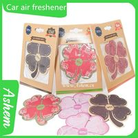 hot sell guangzhou car promotion Car paper air freshener with customized design, DL007