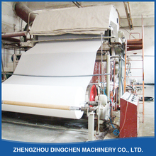 1092mm 2T/D mini automatic toilet tissue paper making machine raw material from waste paper