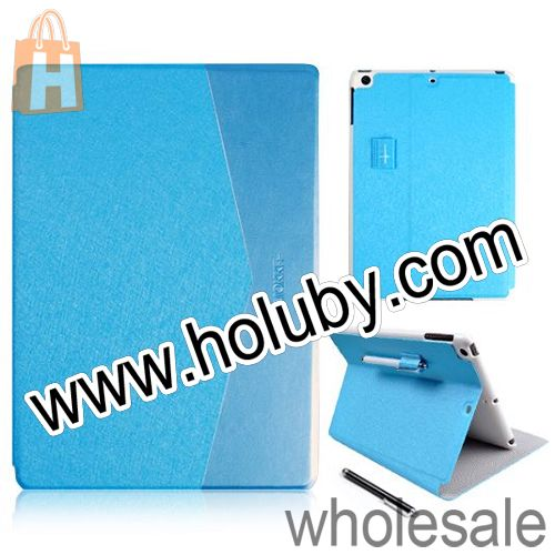 Kajsa Silk Pattern Foldable Stand Smart On or Off Flip Leather Case for iPad Mini 2 Retina with a Stylus Pen