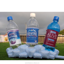 Giant inflatable water bottle replica with ice