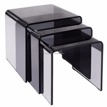 Acrylic Nesting Table Coffee 3pc Lucite Side Table Set