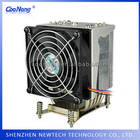 TDP 135W Online design round aluminum heatsink with large CFM
