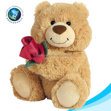 Stuffed bear teddy toy for kids wholesale promotional custom cute New soft toy valentine teddy bear plush toy with red rose