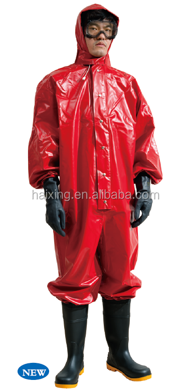 2016 New Spray Tight Type Rubber Chemical Protective Suit