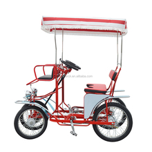 Passenger Renting Four Person Pedal Power 4- Wheeled Family Used Surrey Bike, Whole Sale High Quality Quadricycle