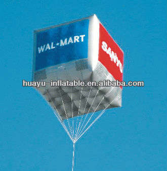 Wal Mart SAMSUNG Advertising Custom Inflatable Cube Balloon Helium Balloon Material